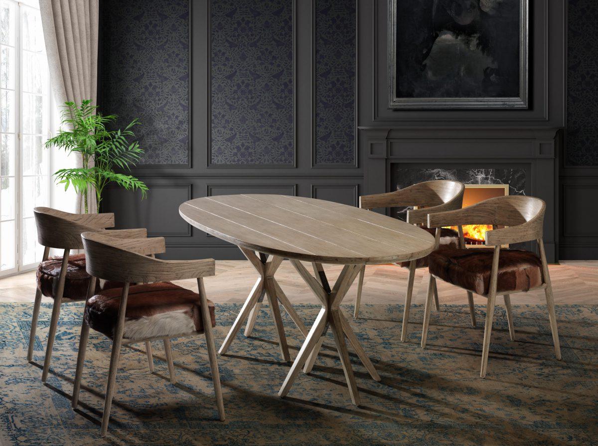 Fotografía muebles. Mesa y sillas salón